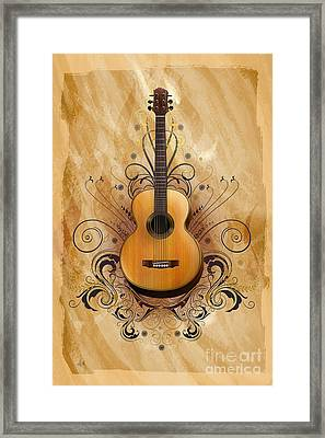 Acoustic Elegance Framed Print by Bedros Awak