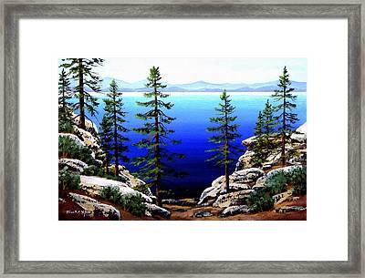 Across Lake Tahoe Framed Print by Frank Wilson