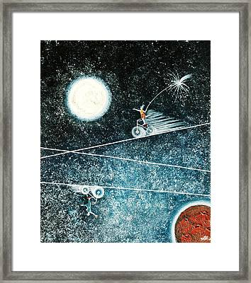 Across The Universe Framed Print by Graciela Bello