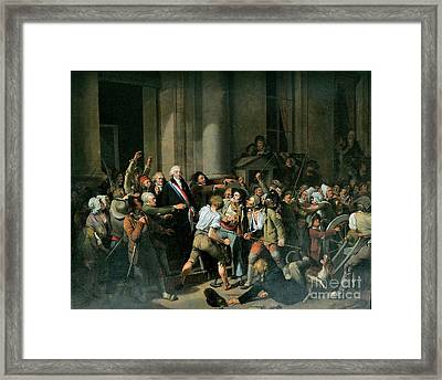 Act Of Courage Of Monsieur Defontenay Framed Print by Louis Leopold Boilly