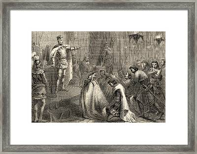 Act Of Justice Of Don Enrique IIi El Framed Print by Vintage Design Pics