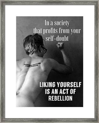 Act Of Rebellion Framed Print by Sara Young