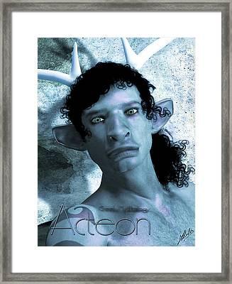 Actaeon Blue  Framed Print by Quim Abella