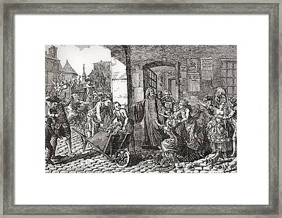 Activities Of The Society Framed Print by Vintage Design Pics