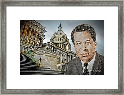 Actor, Songwriter, Singer And Pastor Clifton Davis At The Capitol In D C Framed Print by Jim Fitzpatrick