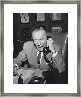 Actor William Demarest Framed Print by Underwood Archives