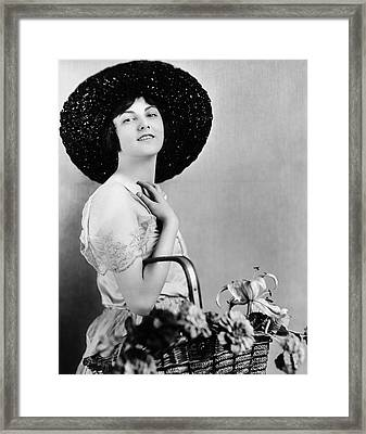 Actress Barbara Bedford Framed Print by Underwood Archives