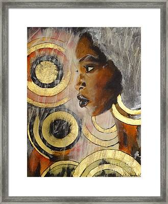 Adaeze The King's Daughter Framed Print by Victoria Rosenfield