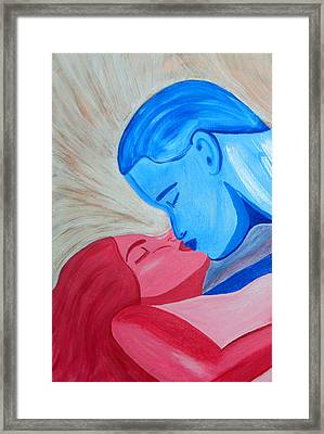 Adam And Eve Close Up Framed Print by Angelina Vick