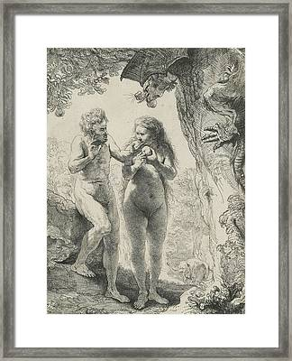 Adam And Eve Framed Print by Rembrandt