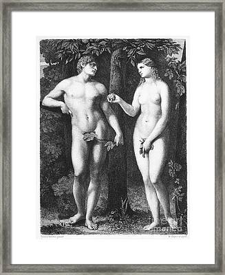 Adam & Eve Framed Print by Granger
