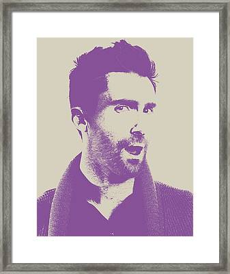 Adam Levine Maroon 5 Vector Pop Art Portrait Framed Print by Design Turnpike
