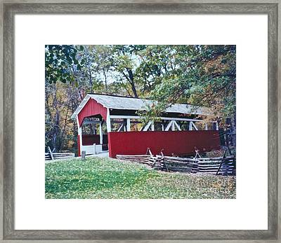 Adam Millers Bridge Framed Print by Penny Neimiller