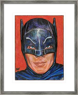Adam West Is Batman Framed Print by Neil Feigeles