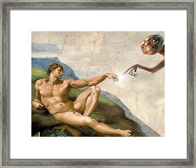 Adam's Creation Vrs Et Framed Print by Gina Dsgn