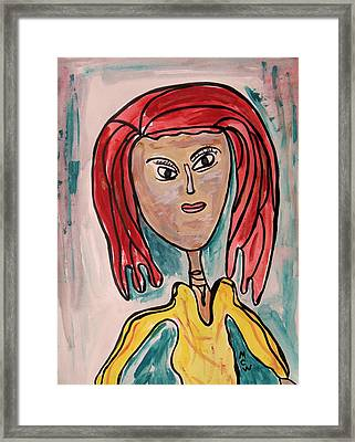 Addie- Noble And Kind Framed Print by Mary Carol Williams