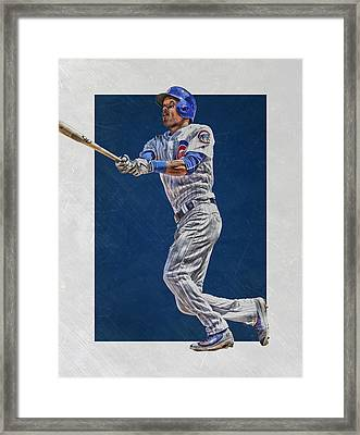 Addison Russell Chicago Cubs Art Framed Print by Joe Hamilton