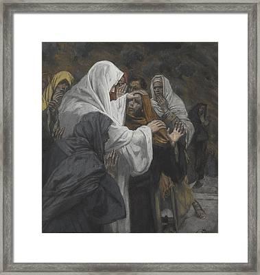 Address To Saint Philip Framed Print by Tissot