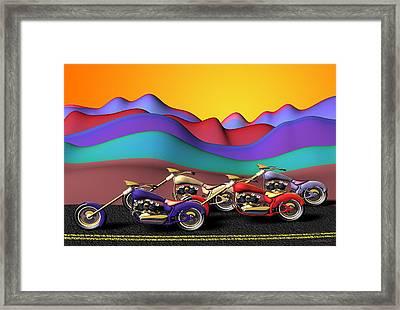 Adelante Framed Print by Cecilia Sherry