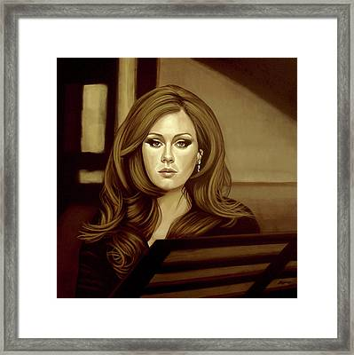 Adele Gold Framed Print by Paul Meijering