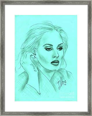 Adele Framed Print by P J Lewis