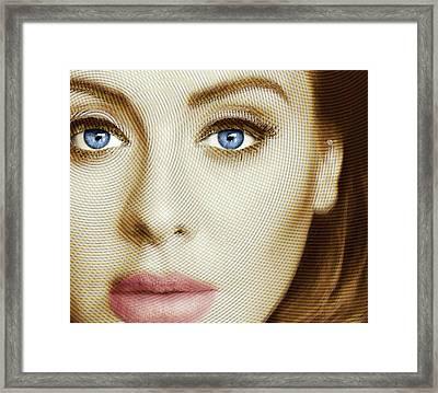 Adele Painting Circle Pattern 1 Framed Print by Tony Rubino