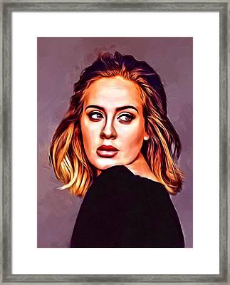 Adele Portrait Framed Print by Scott Wallace