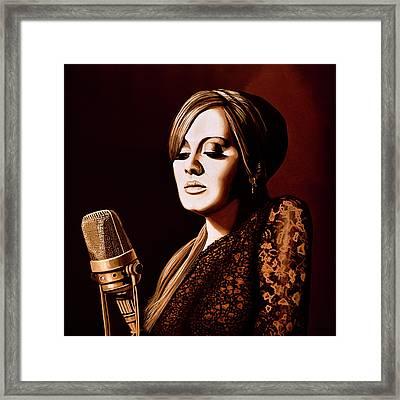 Adele Skyfall Gold Framed Print by Paul Meijering