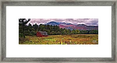 Adirondack Barn Framed Print by Brad Hoyt