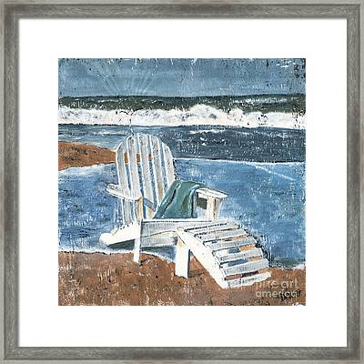 Adirondack Chair Framed Print by Debbie DeWitt