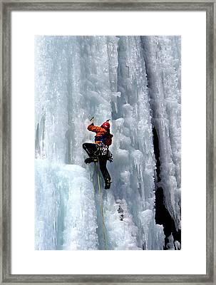 Adirondack Ice Climber  Framed Print by Brendan Reals