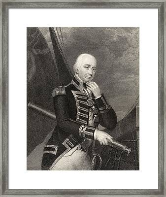 Admiral Lord Cuthbert Collingwood 1st Framed Print by Vintage Design Pics