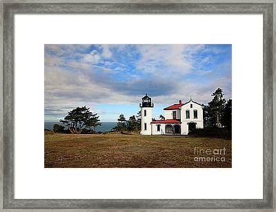 Admiralty Head Lighthouse Framed Print by Cheryl Rose