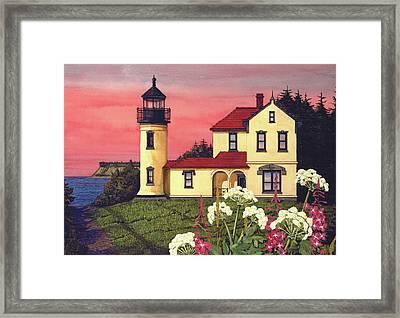 Admiralty Head Lighthouse  Framed Print by James Lyman