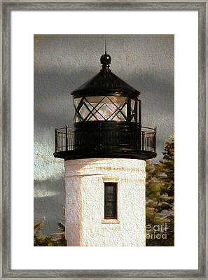 Admiralty Head Lighthouse Tower Framed Print by Cheryl Rose