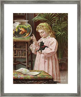 Admire, But Touch Not Framed Print by English School