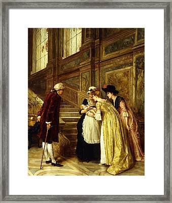 Admiring The Baby Framed Print by George Goodwin Kilburne