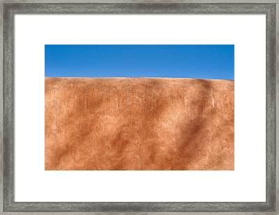 Adobe Wall Santa Fe Framed Print by Steve Gadomski