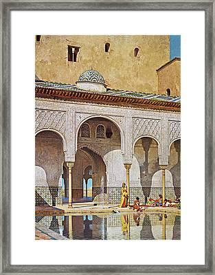 Adolf Seel Sutane Au Patio Framed Print by Munir Alawi