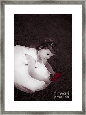 Adorable Little Flower Girl Framed Print by Jorgo Photography - Wall Art Gallery