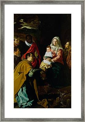 Adoration Of The Kings Framed Print by Diego rodriguez de silva y Velazquez