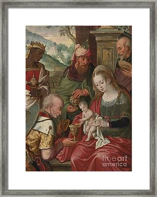 Adoration Of The Magi Framed Print by Celestial Images