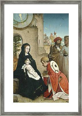 Adoration Of The Magi Framed Print by Juan de Flandes