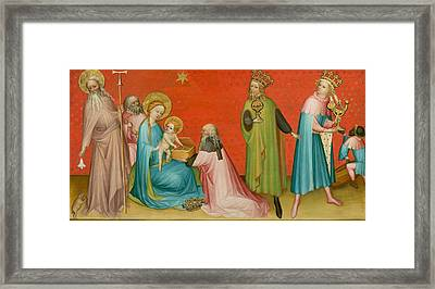 Adoration Of The Magi With Saint Anthony Abbot Framed Print by Mountain Dreams