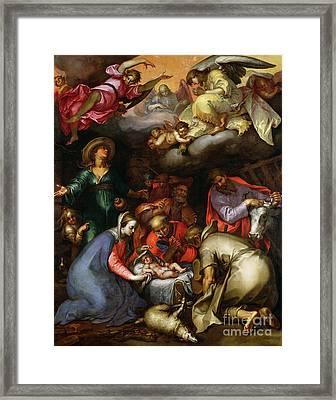 Adoration Of The Shepherds Framed Print by Abraham Bloemaert