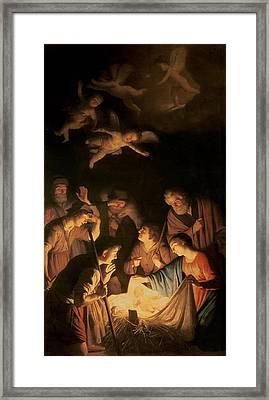 Adoration Of The Shepherds Framed Print by Gerrit van Honthorst