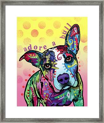 Adoreabull Framed Print by Dean Russo