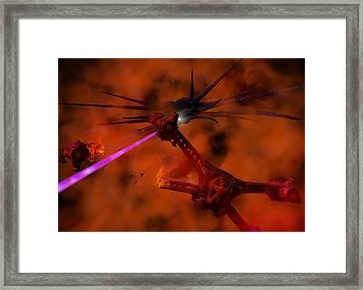 Adrift In Hyperspace Framed Print by Joseph Soiza