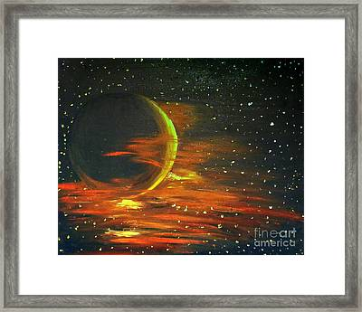 Adrift - In Space Framed Print by Isabella Abbie Shores