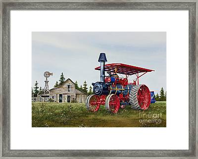 Advance Rumely Steam Traction Engine Framed Print by James Williamson